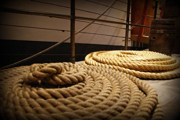 Photograph - Coiled Rope by Marilyn Wilson