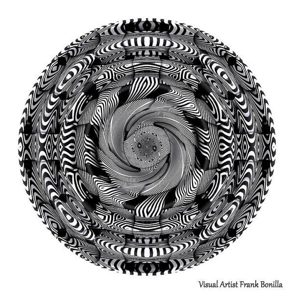 Digital Art - Coiled Snake by Visual Artist Frank Bonilla