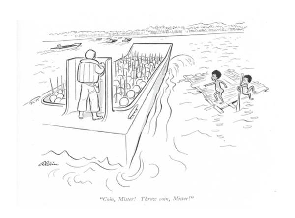 Tribe Drawing - Coin, Mister! Throw Coin, Mister! by  Alain