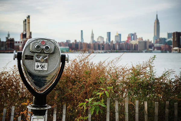 Binoculars Photograph - Coin Operated Binoculars Looking Out by Michael Marquand