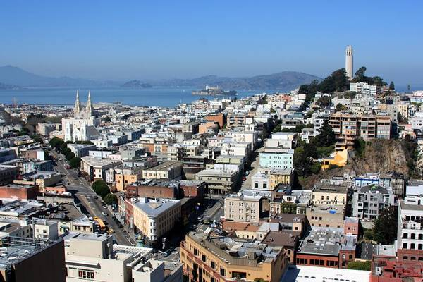 Coit Tower Photograph - Coit Tower With Telegraph Hill by J.castro