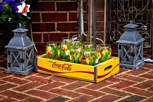 Photograph - Coke And Daffodils by Williams-Cairns Photography LLC