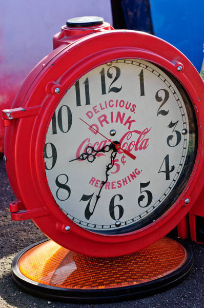 Photograph - Coke Clock by Jill Reger