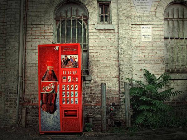 Photograph - Coke Machine Street Scene by Randall Nyhof