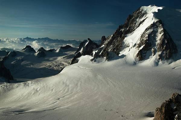 Mont Blanc Wall Art - Photograph - Col Du Midi by Duncan Shaw