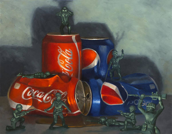 Coca Cola Painting - Cola Wars by Judy Sherman