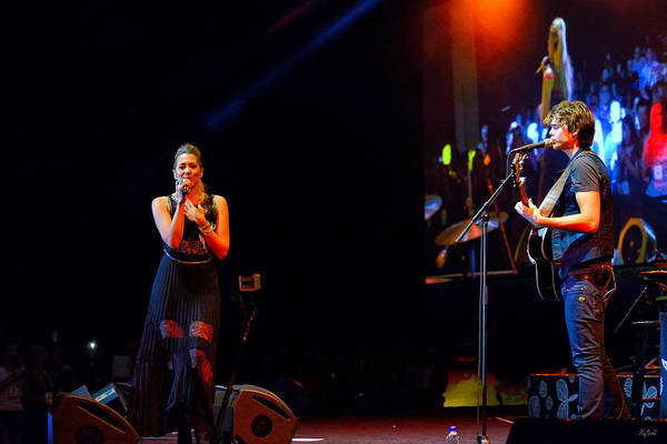 Photograph - Colbie Caillat On Stage by Greg Norrell