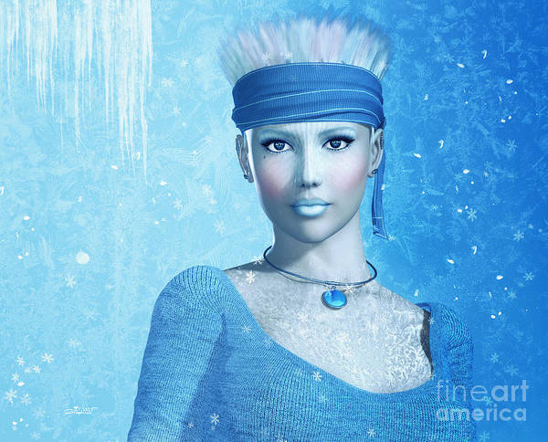 Digital Art - Cold As Ice by Jutta Maria Pusl