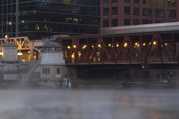 Photograph - Cold Chicago River Scene by Sven Brogren