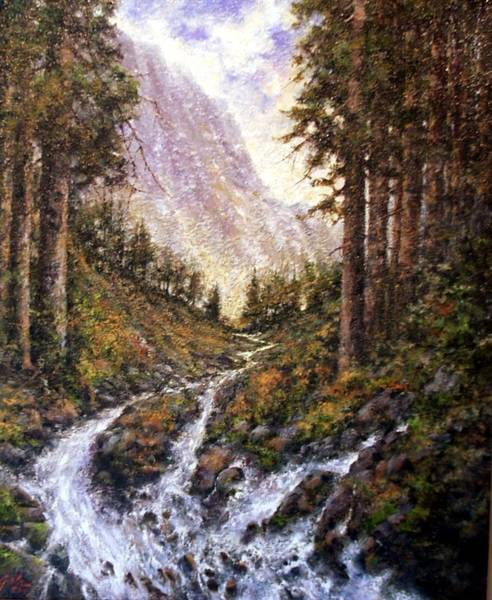 Stream Wall Art - Painting - Cold Creek by Jim Gola