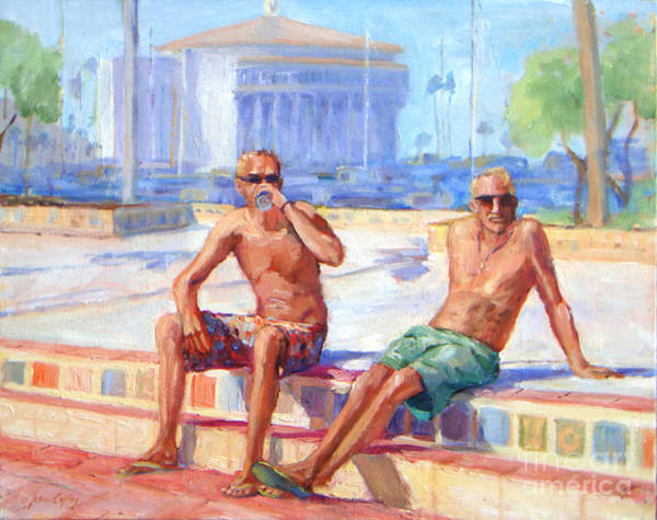 Painting - Cold Drink On A Hot Day by Joan Coffey