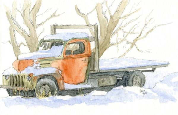 Drawing - Cold Ford by David King