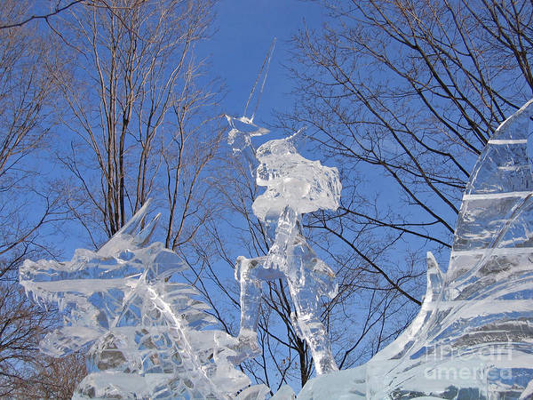 Ice Carving Photograph - Cold Fury by Ann Horn