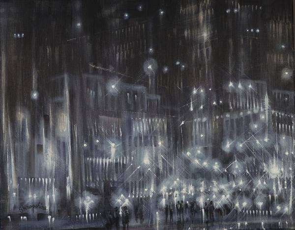 Wall Art - Painting - Cold Hard Streets by Tom Shropshire
