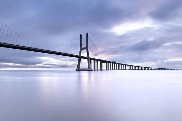 Vasco Da Gama Bridge Wall Art - Photograph - Cold by Jorge Maia