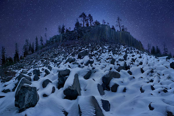 Eastern Photograph - Cold Mountain: Devils Postpile by Yan Zhang