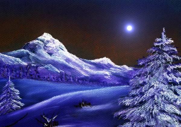 Painting - Cold Night by Anastasiya Malakhova