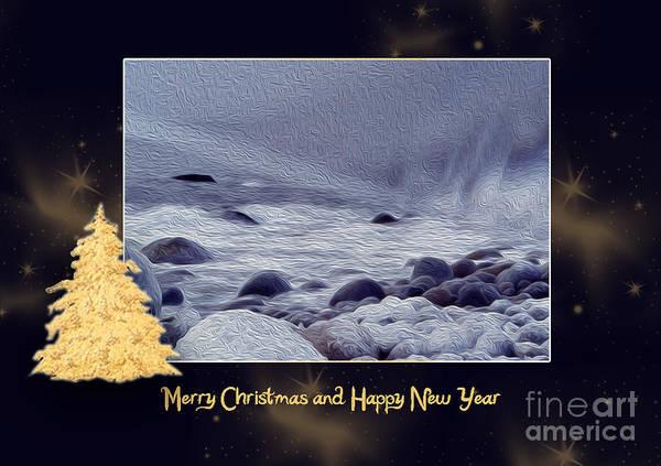 Photograph - Cold Ocean - Christmas Card by Randi Grace Nilsberg