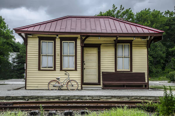 Wall Art - Photograph - Cold Point Train Station  Cape May New Jersey by Bill Cannon
