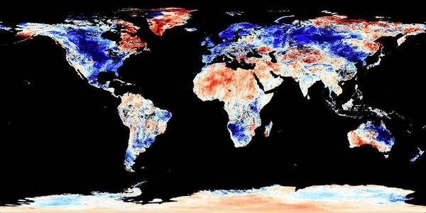 Earth Observation Wall Art - Photograph - Cold Snap In January 2010 by Nasa/jesse Allen, Earth Observatory/modis Land Group/science Photo Library