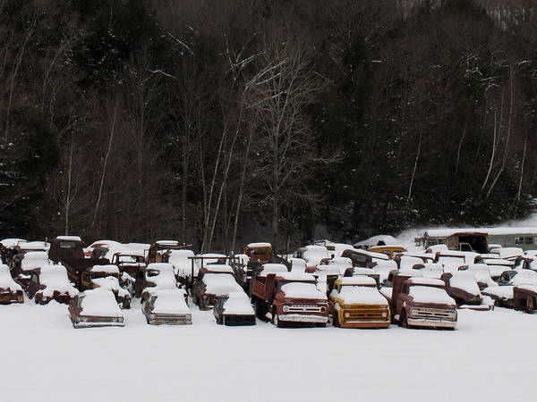 Photograph - Cold Trucks by Kirkodd Photography Of New England