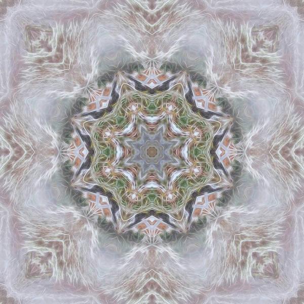 Digital Art - Cold Winter Mandala by Beth Sawickie