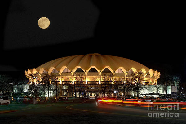 Photograph - Coliseum Night With Full Moon by Dan Friend
