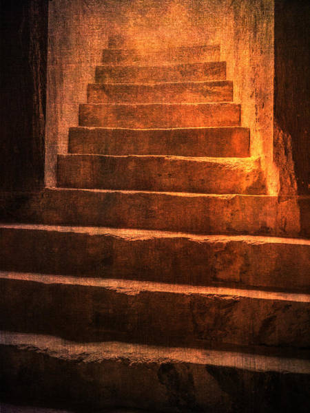 Photograph - Coliseum Stairs Golden by Bob Coates