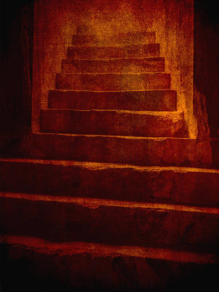 Photograph - Coliseum Stairs Orange by Bob Coates