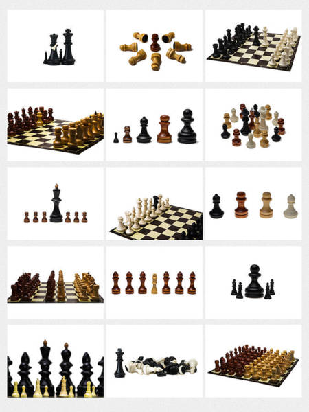Grecian Photograph - Collage Chess Stories 1 - Featured 3 by Alexander Senin