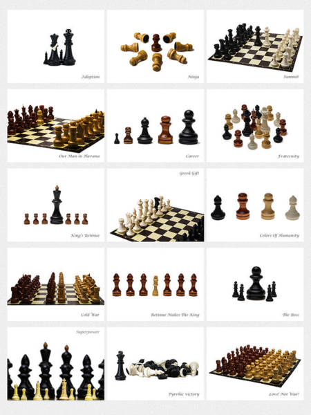 Grecian Photograph - Collage Chess Stories 2 - Featured 3 by Alexander Senin