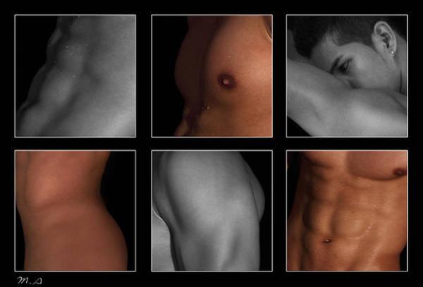 Erotic Photograph - Collage Of Men  4 by Mark Ashkenazi