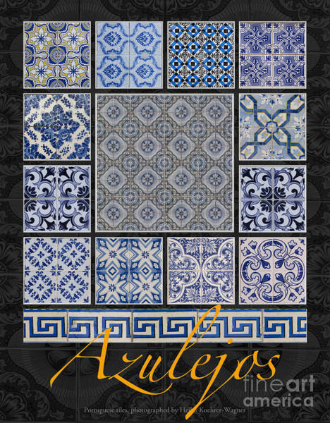 Photograph - Collection Of Blue Colored Portuguese Tile-works by Heiko Koehrer-Wagner