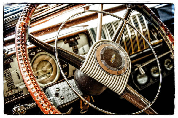Photograph - Steering Right Steering Wheel Collector Car by Roxy Hurtubise