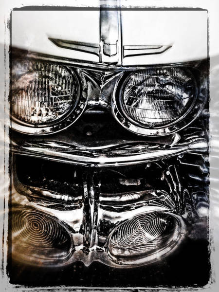 Photograph - Collector Car Front End Headlights by Roxy Hurtubise