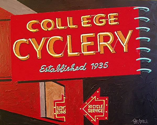 Wall Art - Painting - College Cyclery by Paul Guyer