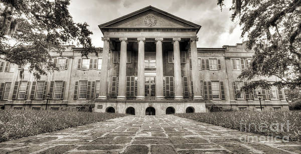 Photograph - College Of Charleston Randolph Hall Sepia by Dustin K Ryan