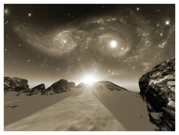 Interacting Galaxies Wall Art - Photograph - Colliding Galaxies by Detlev Van Ravenswaay