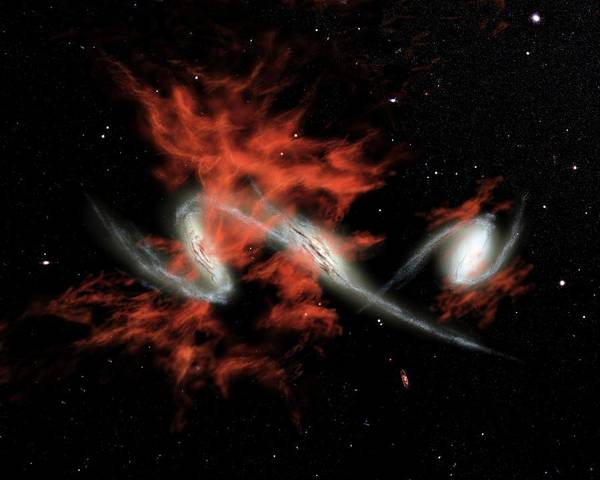 Blob Photograph - Colliding Galaxies by Nasa/jpl-caltech/r. Hurt (ssc/caltech)/science Photo Library
