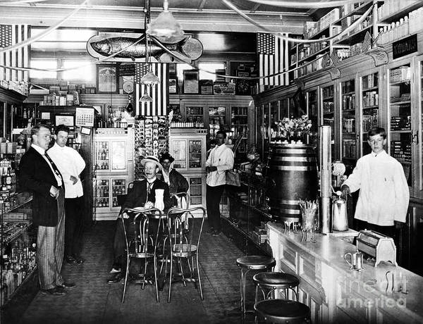 Collin Photograph - Collins Pharmacy, 1914 by Granger