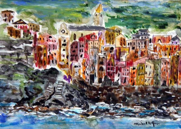 Painting - Coloful Riomaggiore by Michael Helfen