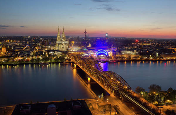 Rhine River Photograph - Cologne At Night  Köln Bei Nacht by Maximilian Müller