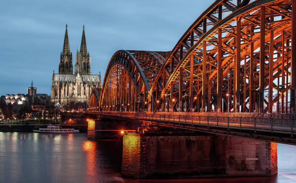 Christianity Photograph - Cologne Cathedral At Dusk by Vulture Labs