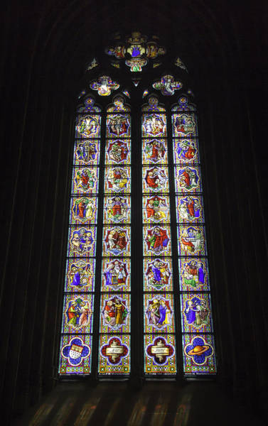 Germania Photograph - Cologne Cathedral Stained Glass Life Of Christ by Teresa Mucha