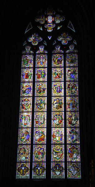 Germania Photograph - Cologne Cathedral Stained Glass Window Johannes Klein Windows by Teresa Mucha