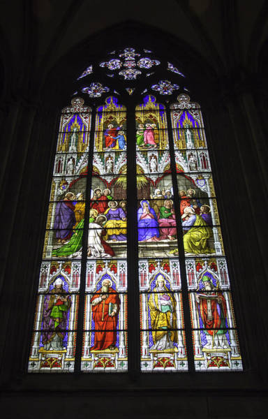 Germania Photograph - Cologne Cathedral Stained Glass Window Of Pentecost by Teresa Mucha
