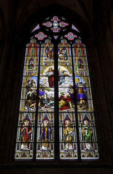 Wall Art - Photograph - Cologne Cathedral Stained Glass Window Of St Paul by Teresa Mucha