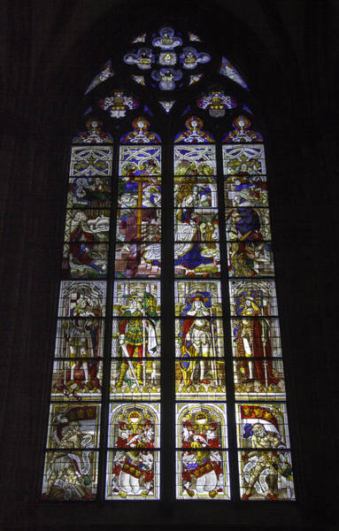 Germania Photograph - Cologne Cathedral Stained Glass Window Of The Nativity by Teresa Mucha
