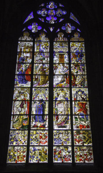 Germania Photograph - Cologne Cathedral Stained Glass Window Of The Three Holy Kings by Teresa Mucha