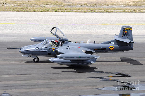 Tweets Photograph - Colombian Air Force A-37 Dragonfly by Riccardo Niccoli